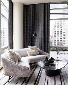 tribeca loft 6 Sprawling Tribeca Triplex Boasting Mid Century and Modern Design Elements