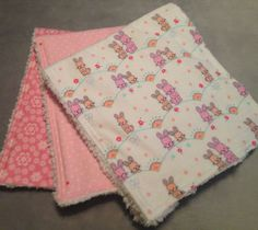Oh so sweet!  Burp cloths for your little sweetie.  Super soft flannel and chenille.  You'll love!