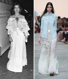 Then and Now: These Sexy '70s Trends Are Making a Comeback - The Bohemian White Dress  - from InStyle.com