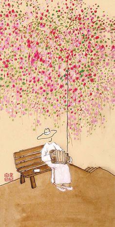 老树  刘树勇,中央财经大学文化与传媒学院教授,视觉文化评论家。老树以其幽默的文风、禅意与生活并存的绘画作品被大家熟知。