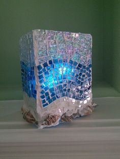 Mosaic candle holder by Ursula Huber