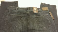 Men's blue jeans 36x32 slim tappered mid rise New retail $128 Black Brown 1826 #BlackBrown1826 #SlimSkinny #bluejeans #mens