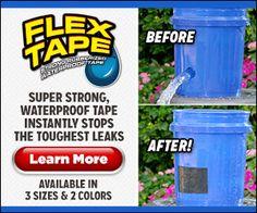 Flex Tape Waterproof Instantly Stops Leaks