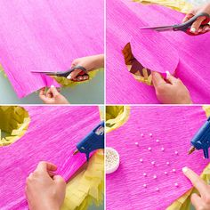 Use crepe + tissue paper to DIY a donut piñata.