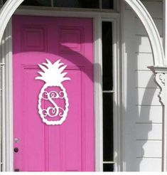 Let our beautiful Pineapple of My Eye Single Initial Wood Monogram adorn your door or home decor this year! Our new Pineapple Initial Monogram is perfect for indoor or outdoor design whether used alone or incorporated with your DIY projects, (i.e., use as a focal piece for your Spring and Summer Wreath) or stand alone. www.beaujax.com