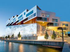 Wohnungsbau Terrassenhaus Aluminiumfassade