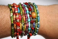 Recycled Paper Bead Bracelet | Flickr - Photo Sharing!