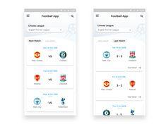 Football App by Sandi Setiawan Mobile App Design, App Ui Design, Mobile Ui, Interface Design, Android Design, Sports App, App Development, Website Template, Android Apps