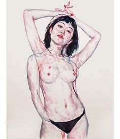 South Korea-raised, Melbourne-based artist Kim Hyunji (also known as Kim Kim Kim) crafts stirring oil portraits that experiment with texture and movement. The artist has said that unlike photograph… Think Thin, Hi Fructose, Arches Paper, Bachelor Of Fine Arts, Oil Portrait, Artist Painting, Vignettes, Female Bodies, Oil On Canvas