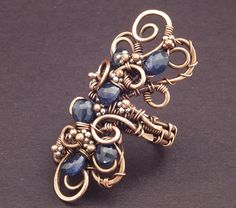 Sapphire Copper Floral Ring by ~WiredElements on deviantART