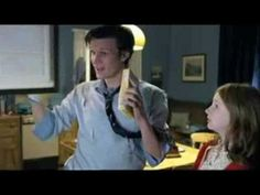 "Dr who bloopers and funny scenes (10th and 11th Doctor). ""Hey, David, I have cake."" ""Wheee!!!!"""