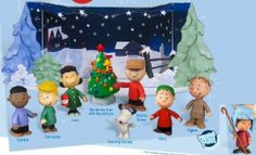 A Charlie Brown Christmas Mini Figure Set of 9 with Fold Out Starry Night Scene w/ BONUS Shepherd Linus by Forever Fun. $29.99. A Charlie Brown Christmas. Includes BONUS Linus Shepherd mini-figure. Starry Night Scene Display. easy-to-assemble Winter Night backdrop. 3 inch poseable mini figures. The Peanuts gang in the final scene of the Classic Christmas TV Special. The gang's all here gathered around Charlie Brown's decorated Christmas tree (after its transformation in...
