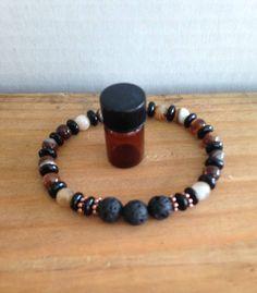 Men's Aromatherapy Bracelet, Diffuser Bracelets, Lava Rock Bracelet, Agate Bracelet, Essential Oil Bracelet, Lava Stone Bracelet, Gemstone by TwinWatersJewelry on Etsy