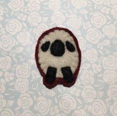 Sheep felt pin