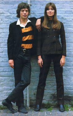 "deshistoiresdemode: "" Family portrait ! +++ Mick Jagger & Françoise Hardy by Jean-Marie Périer, 1960s. """