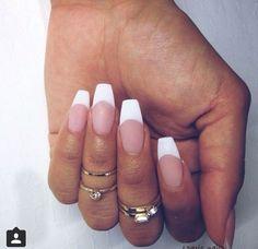 Résultats de recherche d'images pour «coffin nail french manicure»