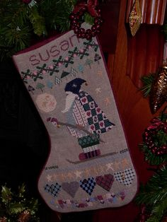Cross Stitch Christmas Stockings $ Love this one for one of the girls. Description from pinterest.com. I searched for this on bing.com/images