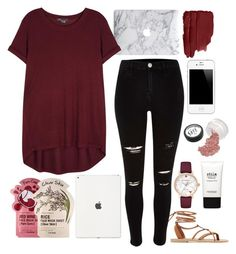 """Maroon"" by kaleyyy00 ❤ liked on Polyvore featuring Tony Moly, Stila, Kate Spade, Vince and Valia Gabriel"