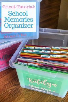 Are you not sure what to do with all of that school and artwork your kids bring home? Learn how to make your own school memory boxes. It's easier than you think to organize your kid's school and artwork!