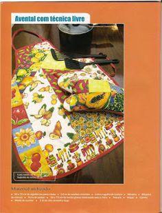 Avental e luva em patchwork com molde