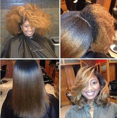 One of the main reasons I LOVE my natural hair, the versatility. look at all this GORGEOUS hair! Pelo Natural, Natural Hair Tips, Natural Hair Styles, Natural Beauty, Organic Beauty, Love Hair, Big Hair, Gorgeous Hair, Straight Hairstyles