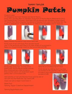 Pumpkin Patch Nail Art Tutorial Fall Pedicure, Tammy Taylor Nails, Art Nails, Gel Color, Nail Art Galleries, Nail Tutorials, Nail Ideas, Nail Designs, Hair Beauty