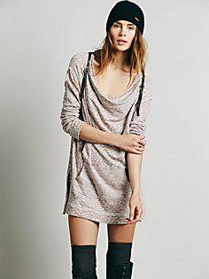 Slouchy Cowl Mini Dress--Free People