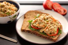 Sharon's chickpea salad or sandwich spread- Vegan This one sounds VERY good! And this time I'm going to mash the chickpeas instead of using the processor for a better texture.   Lunch or dinner!  YUM!!!