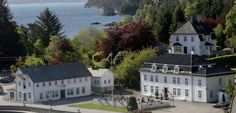 """Located on the harbor of Selbjørn, one of 667 tiny islands in the Austevoll archipelego on Norway's far west coast, Bekkjarvik Gjestgiveri from Must-Visit Historic Hotels in Norway"""" Places To Travel, Places To Go, Norway Viking, House Property, Country House Hotels, Le Far West, Beautiful Islands, Hotel Reviews, Holiday Travel"""