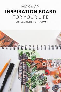 Make an Inspiration Board for Your Life - How to make an inspiration board for your dreams, goals, memories, and current favorites in life. It's amazing how pictorially defining your hopes and dreams can serve as an encouragment and inspiration. Learn more @ littlegirldesigns.com