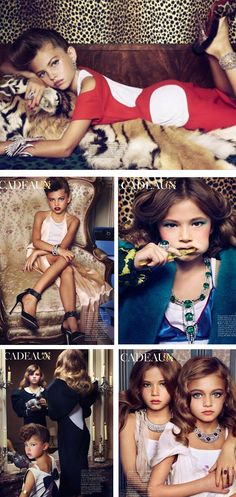 Disturbing Sex Kitten French Vogue photo shoot featuring children