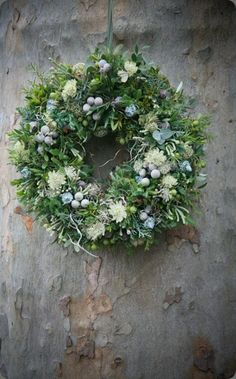 Wild and beautiful greenery wreath
