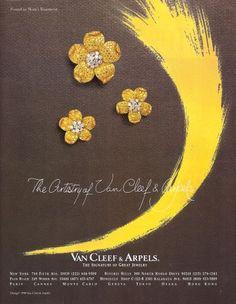 1991 ad for Van Cleef & Arpels jewelry