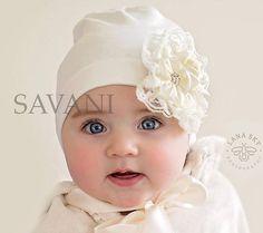 Sombrero de niña bebé sombrero gris chicas por SAVANIboutique