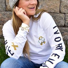 a7f22652d9b8c7 Ivory Ella Childhood Cancer Awareness Month Collection