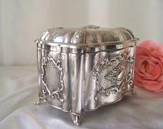 Antique Sterling Silver Etrog Box Masorett 925 by cynthiasattic