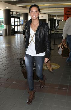 Ashley Tisdale leather jacket
