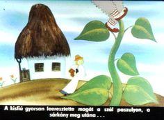 Anyóca Babóca: Az égig érő paszuly - diafilm Fairy Tales, Painting, Vegetables, Tips, Painting Art, Fairytail, Paintings, Vegetable Recipes, Adventure Movies