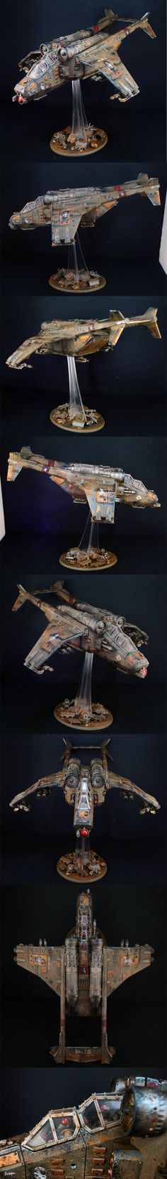 40k - Death Korps of Krieg Valkyrie Vendetta by TheMiniatureWorksjop via coolminiornot.com