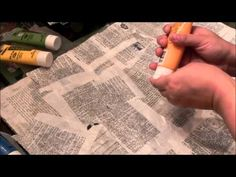Making Mixed Media Collage Paper - YouTube
