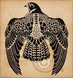 Egyptian Horus Peregrine Falcon by Amoebafire