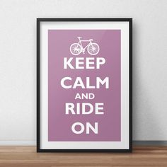Plakat w ramie keep calm nad ride on  littlethings.pl