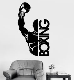 Vinyl Wall Decal Boxing Boxer Fight Sports Decor Stickers Mural (ig3466)