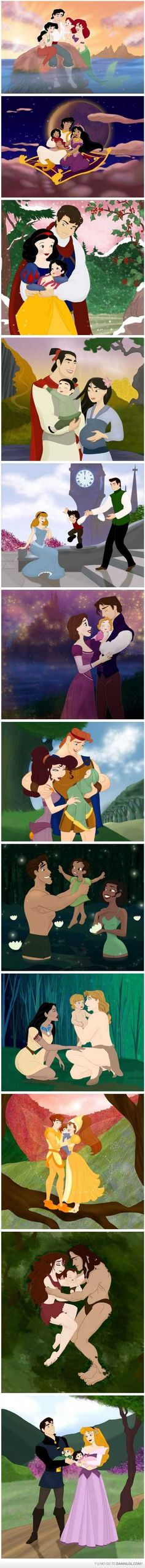 Disney families (except for Thumbelina; that's Don Bluth)