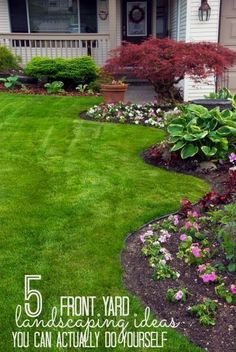 Increase your curb appeal with these landscaping DIY projects! These 5 front yard landscaping ideas are perfect for beginners and can be done in a weekend. tipsaholic.com #yard #curbappeal #DIY #landscapingdiy #desertlandscapefrontyard