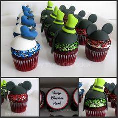 Donald Duck Cupcake, Goofy Cupcake, Mickey Mouse Cupcake #Cupcakes #Disney