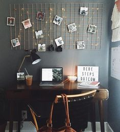 Dorm Room Inspiration - Whether, if you're living in a dorm you've probably come across the challenge of decorating the tiny, character-free space. College Dorm Rooms, College Girls, College Desks, New Room, House Rooms, Living Rooms, Room Inspiration, Bedroom Decor, Wall Decor