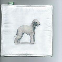 Bedlington Terrier Dog pot holder Fabric