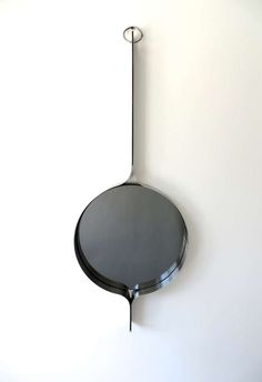 Michel Boyer; Stainless Steel and Glass Wall Mirror, 1970s.