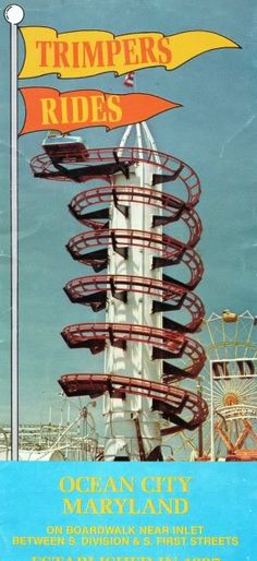 One of my favorite rides as a kid!  Apparently this is from the 70's which makes me a little nervous...It was 20+ years old!!